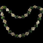 Vintage Long Bakelite Bead Necklace w/ Chinese ~Long Life~ Symbols