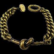 Modernist Jorma Laine Finland Bronze KNOT Link Bracelet 1970s