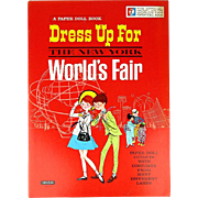 Official 1964 Dress Up For The New York WORLD'S FAIR Paper Dolls Cutout Book ...