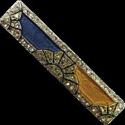 Vintage Pierre Bex Deco Revival Rhinestone Laminate Pin Brooch