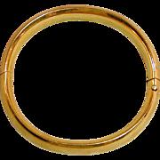 Vintage Craftmere 12K Gold-Filled Bangle Bracelet Etched Hinged