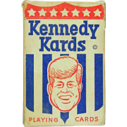1963 KENNEDY KARDS JFK Political Playing Cards Deck Caricature Art