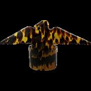 Old Faux Tortoise Shell Celluloid EAGLE Figural Napkin Holder