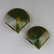 Art Deco Bakelite Swirl Fan Shaped Earrings
