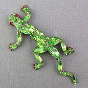 Vintage Dorothy Bauer Rhinestone Lizard Pin Brooch