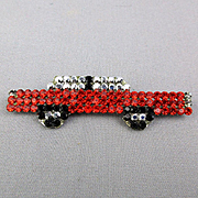 Vintage Signed DeMaria Italy Rhinestone Car Pin Brooch