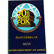20th Century Fox Movie Memorabilia Auction Catalog 1971