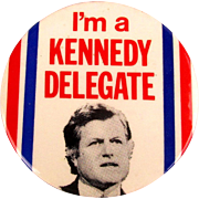 Original 1980 Edward Ted Kennedy DELEGATE Pin