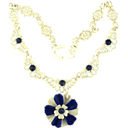 Vintage 1930s Celluloid Daisy Flower Necklace