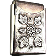 Vintage Silverplate Repousse Arts & Crafts Design Case