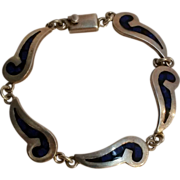 Mexico sterling bracelet with inlay