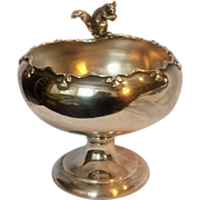 F B Rogers Squirrel nut bowl silver plate