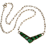 Bessie Castillo Navajo sterling turquoise necklace