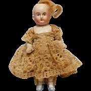 Antique miniature all bisque Mignonette dollhouse doll 2120
