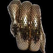 Whiting & Davis snake bracelet triple coil mesh