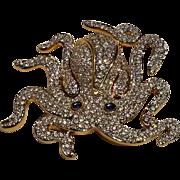 Swarovski octopus pin rare retired
