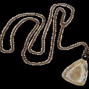 Saint Teresa glass intaglio pendant lariat necklace