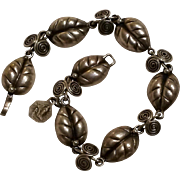 Taxco sterling leaf bracelet VA eagle 3