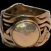 Silpada sterling ring mermaid coin pearl