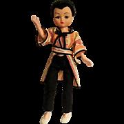 "Dollikin 19"" doll black hair widows peak Asian outfit"