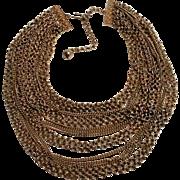 Kramer necklace seventeen strand multi chain bib