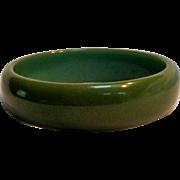 Olive green Bakelite bangle bracelet