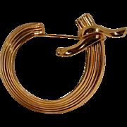 Napier sterling vermeil pin