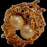 Esposito 18K HGE ring Brutalist cultured pearls