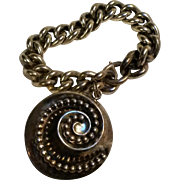 Signed Napier silver plate bracelet chunky charm