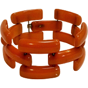 Butterscotch Bakelite track bracelet