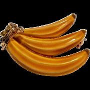 HAR yellow enamel banana pin rhinestone
