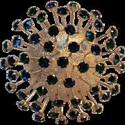 CoroCraft sputnick pin rhinestone en tremblant