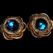 Vendome chunky prism earrings blue