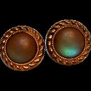 Antique saphiret glass cufflinks Acme