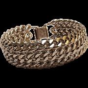 Monet mesh chain bracelet silver tone