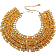 Mosell Egyptian Revival Cleopatra bib necklace