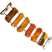 Natural Baltic butterscotch amber slice bracelet 145 grams