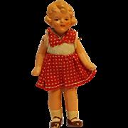 Miniature dollhouse girl  doll Germany 425 3 3/4 inch