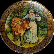 Antique Horlicks Malted milk celluloid Advertising Pocket mirror