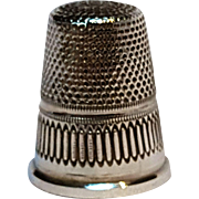 Sterling silver thimble number 4 star top