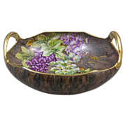 SALE Nippon Hand Painted Porcelain Console Bowl with Wisteria Flowers