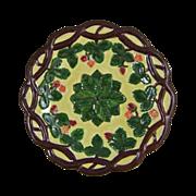 Majolica Tin Glazed Earthenware Strawberry Vine Plate
