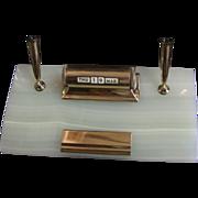 Mid-Century Sheaffer Desk Pen Stand Perpetual Calendar