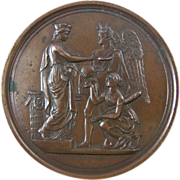 1853 Exposition of the Industry of All Nations Bronze Medal