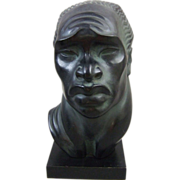 Mid Century Fred Press Sculpture African Woman Head