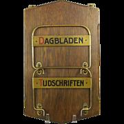 REDUCED Dutch Newspaper Magazine Rack Dagbladen Tijdschriften