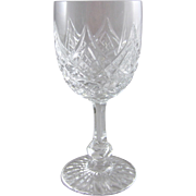 Baccarat France Cut Crystal Wine Glass