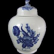 Royal Copenhagen Porcelain Blue Flowers Blaue Blume Lidded Jar
