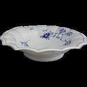 Royal Copenhagen Danish Porcelain Blue Fluted Plain Décor 1111 Round Candy Dish