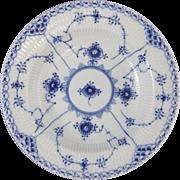 Royal Copenhagen Porcelain Blue Fluted Half Lace 1 102 604 Rim Soup